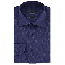 Buy Daniel Hechter Pindot Tailored Fit Shirt, Navy Online at johnlewis.com