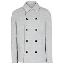 Buy Reiss Premium Comodor Wool and Cashmere Double-Breasted Coat, Grey Melange Online at johnlewis.com