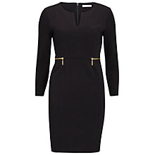 Buy Gina Bacconi Dior Crepe Knit Dress, Black Online at johnlewis.com