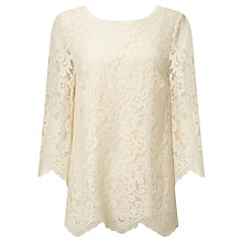 Buy Somerset by Alice Temperley Scalloped Lace Top, Cream Online at johnlewis.com