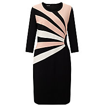Buy Gerry Weber 3/4 Sleeve Jersey Dress, Black/Peach Online at johnlewis.com