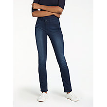 Buy Lee Elly High Waist Slim Leg Jeans, Super Dark Online at johnlewis.com