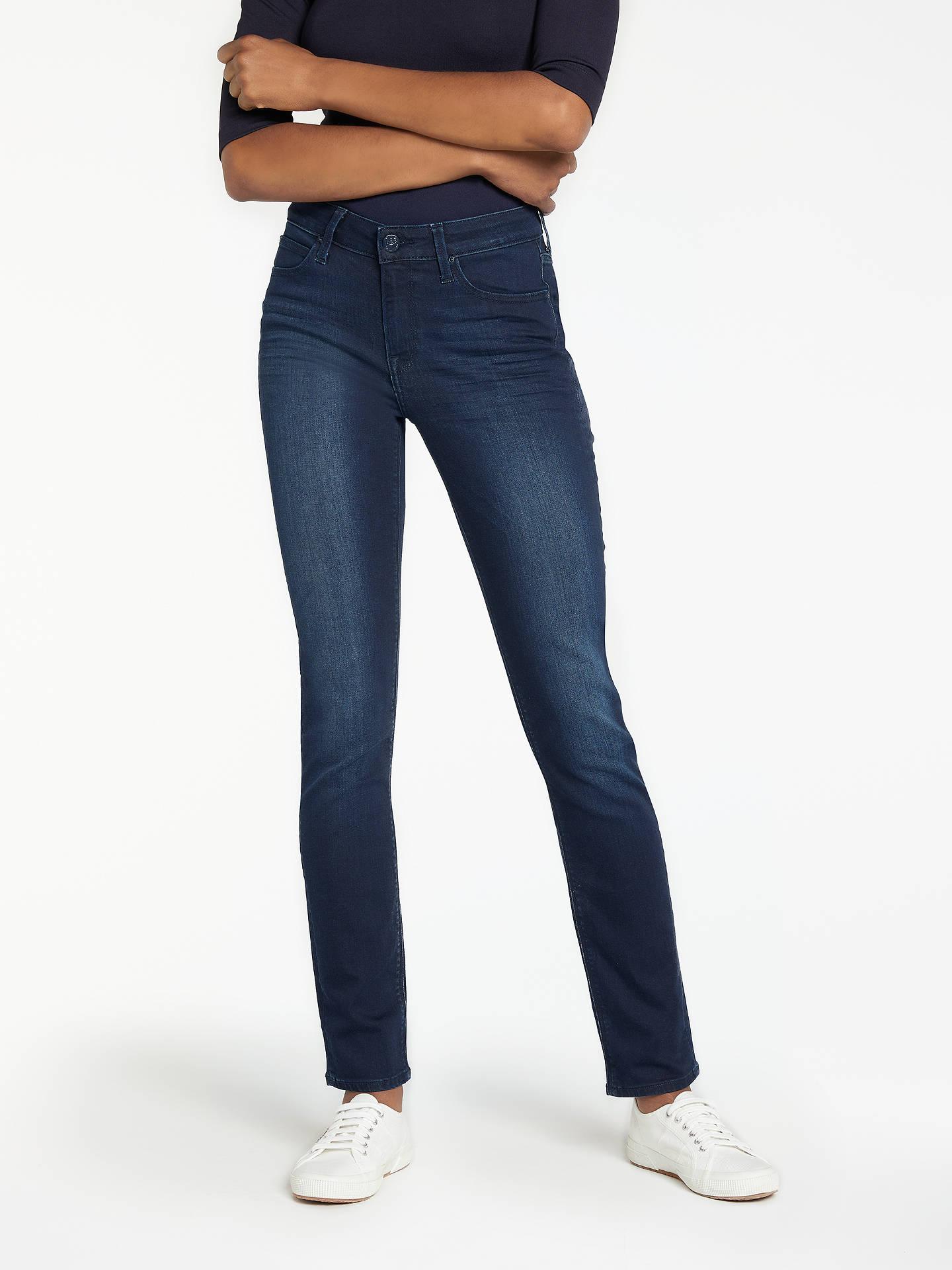 8a232435 Lee Elly High Waist Slim Leg Jeans, Super Dark at John Lewis & Partners