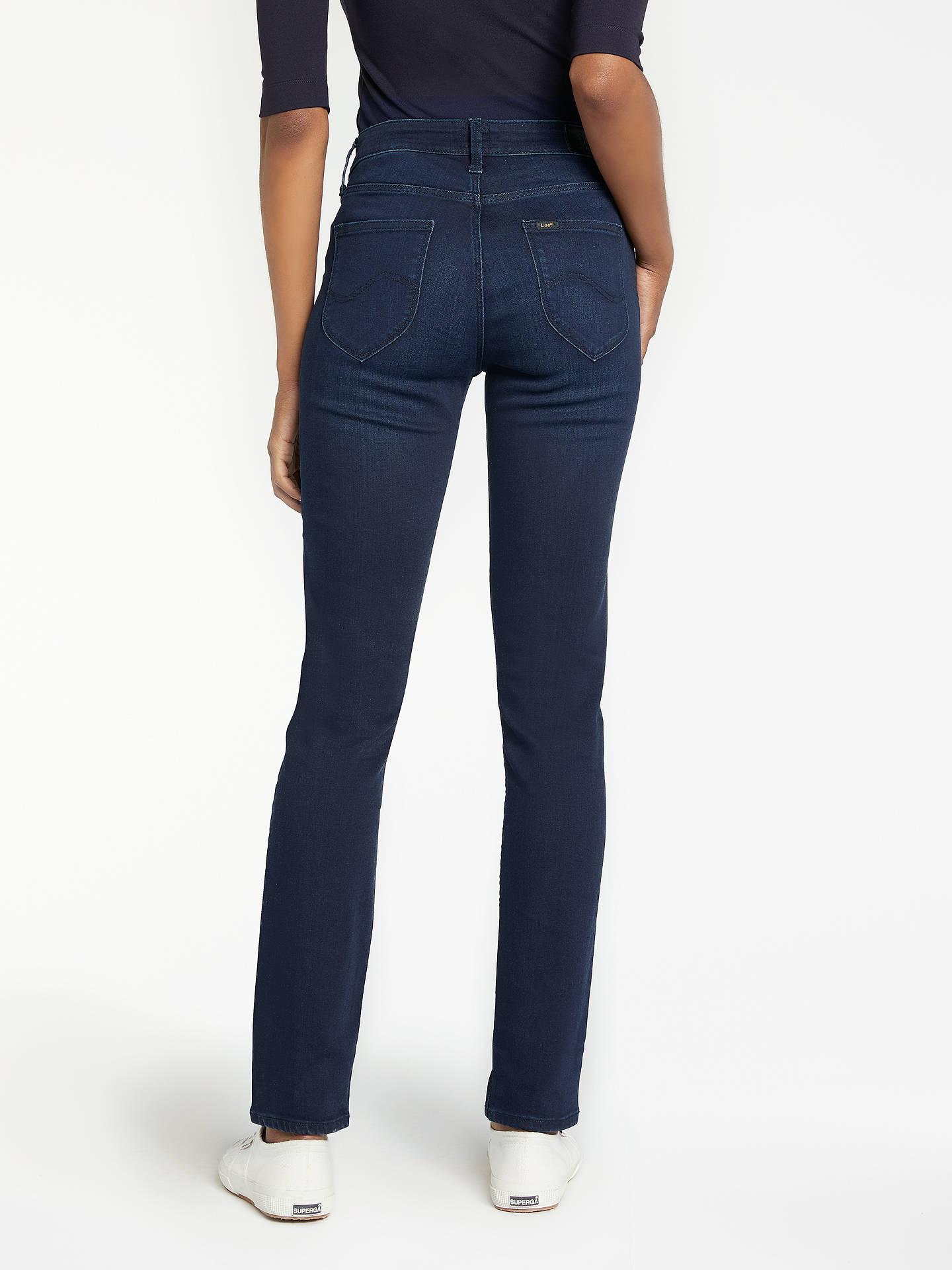 dbe76acf ... Buy Lee Elly High Waist Slim Leg Jeans, Super Dark, W27/L31 Online ...