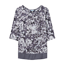 Buy Joules Leah Floral Print Top, Grey Floral Online at johnlewis.com
