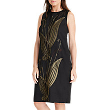 Buy Lauren Ralph Lauren Akshara Crew Neck Dress, Black/Gold Online at johnlewis.com