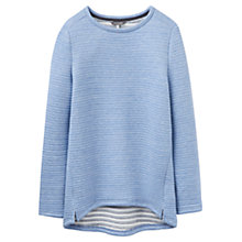 Buy Joules Isla Textured Sweatshirt, Mid Blue Marl Online at johnlewis.com