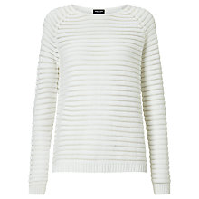 Buy Gerry Weber Stripe Textured Jumper, White Online at johnlewis.com