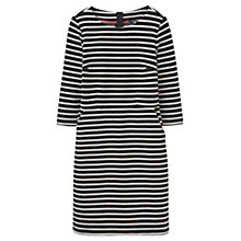 Buy Joules Miriam Ottoman Pocket Dress, Black Stripe Online at johnlewis.com
