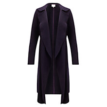 Buy East Boiled Wool Waterfall Coat, Purple Online at johnlewis.com