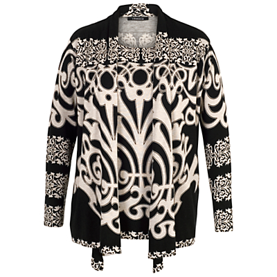 Chesca Abstract Print Jumper, Black/Beige
