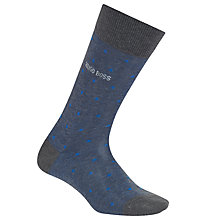 Buy BOSS Dots Mercerised Cotton Socks, Blue/Grey Online at johnlewis.com