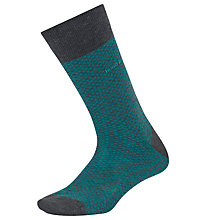 Buy BOSS RS Design Finely Patterned Socks, Green/Grey Online at johnlewis.com