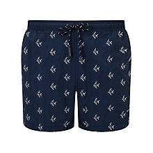 Buy BOSS Whiteshark Swim Shorts, Blue Online at johnlewis.com