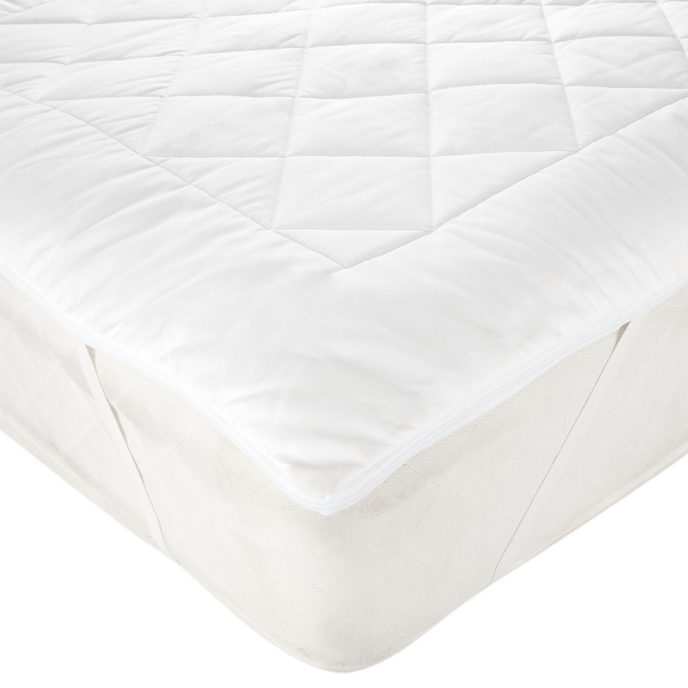 John Lewis & Partners Natural Light Cotton Comfort Dual Layer 3cm Deep Mattress Topper