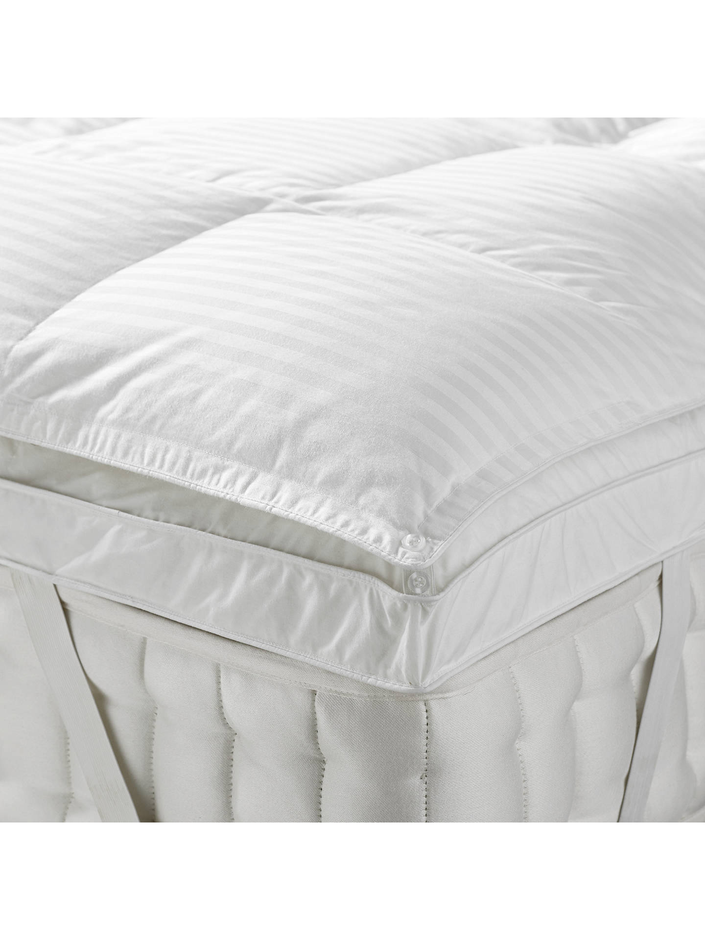 BuyJohn Lewis & Partners Natural Collection Hungarian Goose Down Mattress Topper, Single Online at johnlewis.com