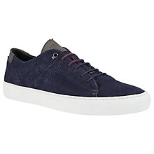 Buy Ted Baker Kiing Suede Trainers, Navy Online at johnlewis.com
