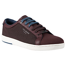 Buy Ted Baker Ternur Leather Trainers, Dark Red Online at johnlewis.com