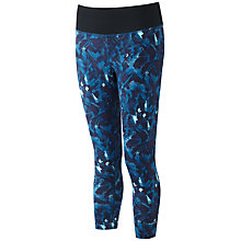 Buy Ronhill Momentum Cropped Running Tights, Blue Online at johnlewis.com