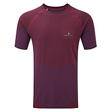 Buy Ronhill Infinity Short Sleeve Running T-Shirt, Purple/Red Online at johnlewis.com
