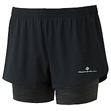 Buy Ronhill Stride Twin Women's Running Shorts, Black Online at johnlewis.com