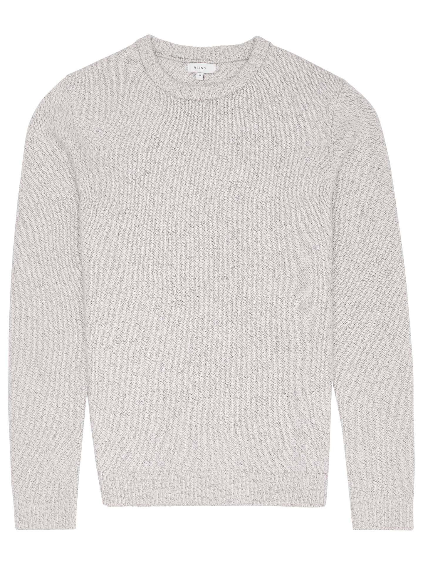 Reiss Andrew Flecked Crew Neck Jumper At John Lewis Partners Smith Floral Printed Shirt Navy Xxl Buyreiss Soft Grey Xs Online