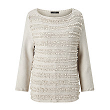 Buy Weekend MaxMara Carlo Fringe Detail Jumper, Ivory Online at johnlewis.com
