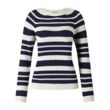 Buy Weekend MaxMara Sonni Stripe Jumper, Navy/Ivory Online at johnlewis.com