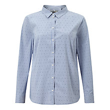 Buy Gerry Weber Stripe Spot Shirt, Blue/Ecru Online at johnlewis.com