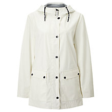 Buy Gerry Weber Hooded Showerproof Mac, Off White Online at johnlewis.com