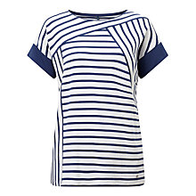 Buy Gerry Weber Stripe Jersey Top, Blue/White Online at johnlewis.com