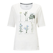 Buy Gerry Weber Floral Graphic T-Shirt, Milk Online at johnlewis.com