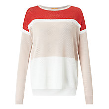 Buy BOSS Orange Waylee Colour Block Jumper, Multi Online at johnlewis.com