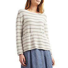 Buy Weekend MaxMara Antiope Metallic Stripe Jumper, Ivory Online at johnlewis.com