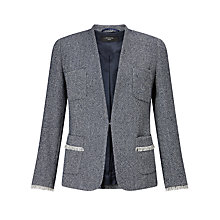 Buy Weekend MaxMara Ubicato Herringbone Blazer, Ultramarine Online at johnlewis.com