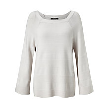Buy Weekend MaxMara Zirlo Rib Detail Jumper, Ivory Online at johnlewis.com