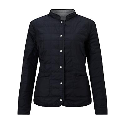 Gerry Weber Reversible Padded Jacket, Indigo/Off White