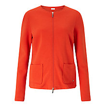 Buy Gerry Weber Ribbed Jersey Jacket, Chilli Online at johnlewis.com