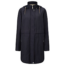Buy Gerry Weber Water Repellent Hooded Coat, Navy Online at johnlewis.com