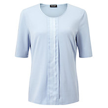 Buy Gerry Weber Pleat Front Jersey Top, Light Blue Online at johnlewis.com