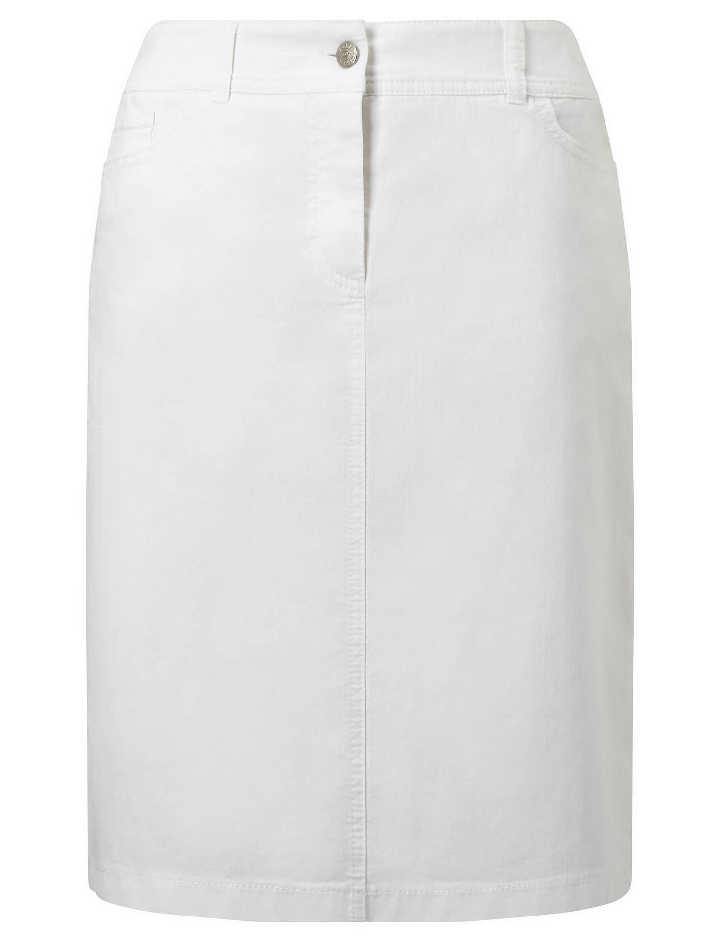 25787dcb53 Buy Gerry Weber Straight Denim Skirt, White, 14 Online at johnlewis.com ...