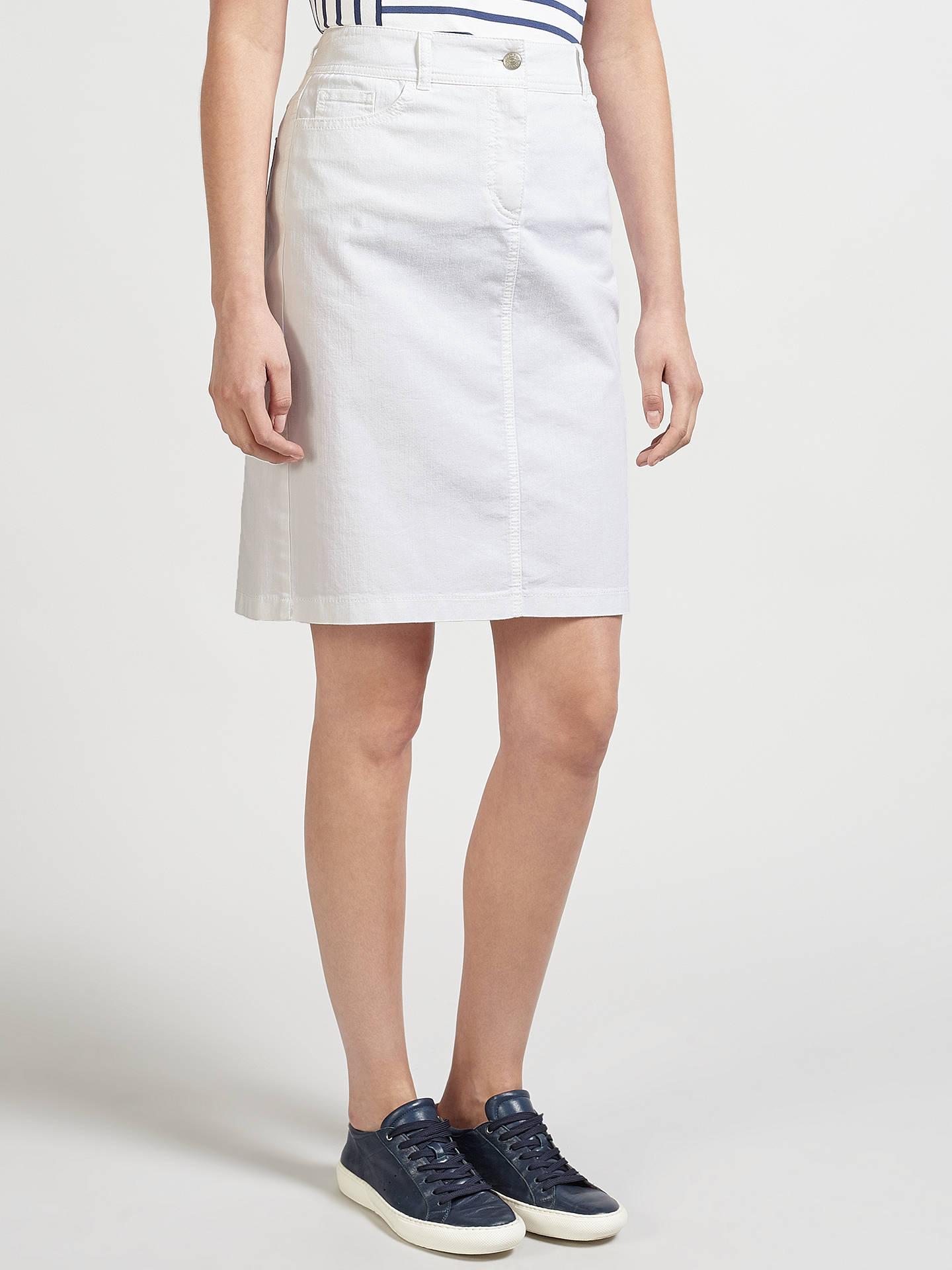 8071c5d5db ... Buy Gerry Weber Straight Denim Skirt, White, 14 Online at johnlewis.com  ...