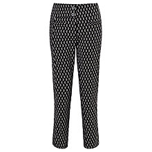 Buy Marella Pecos Jacquard Trousers, Black Online at johnlewis.com