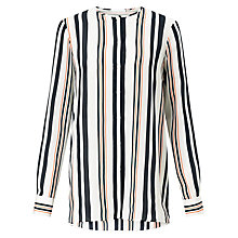 Buy BOSS Relliana Stripe Silk Blouse, Multi Online at johnlewis.com