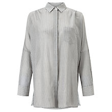 Buy Weekend MaxMara Lazio Thin Stripe Shirt, Grey/White Online at johnlewis.com