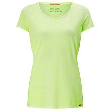 Buy BOSS Orange Tahiras T-Shirt, Bright Yellow Online at johnlewis.com