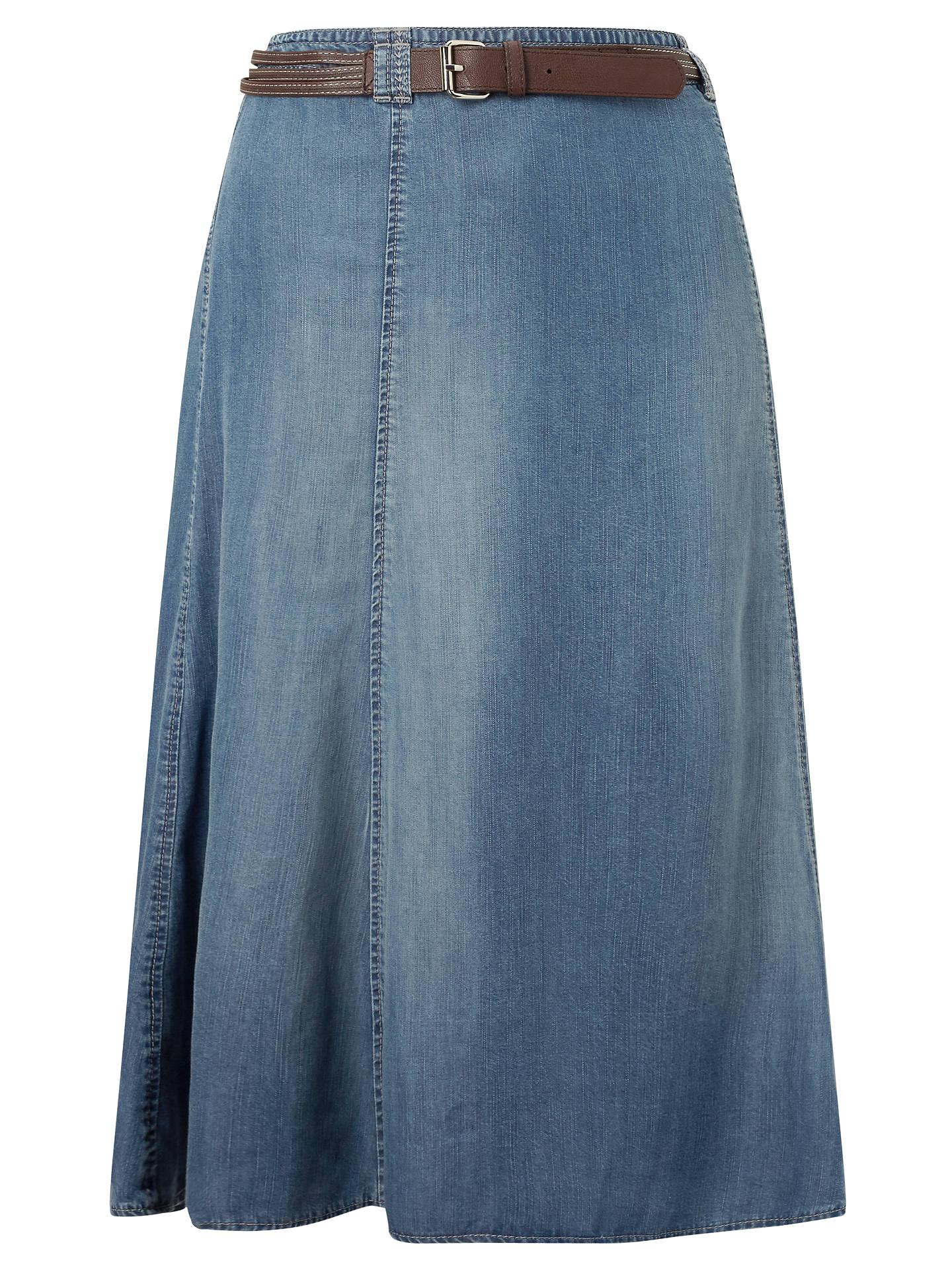 efdceac68f Buy Gerry Weber Denim Skirt, Blue, 10 Online at johnlewis.com ...