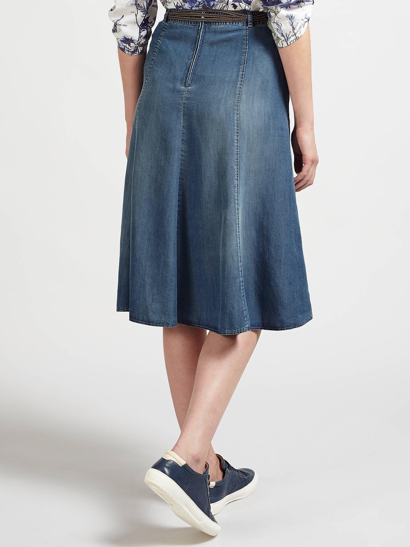 5ebf775b5e ... Buy Gerry Weber Denim Skirt, Blue, 10 Online at johnlewis.com ...
