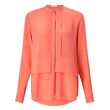 Buy BOSS Ranenya Silk Blouse, Light Pastel Red Online at johnlewis.com