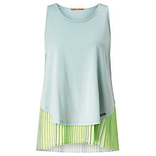 Buy BOSS Orange Talayer Sleeveless Jersey Top, Pastel Blue Online at johnlewis.com